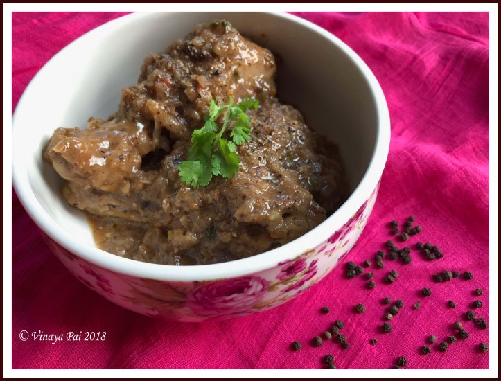 Pepper chicken Vinaya